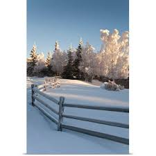 great big canvas jeff schultz poster print entitled winter scenic