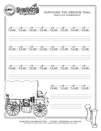 free printable beginner practice cursive worksheet a a only