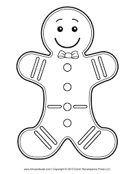 gingerbread man characters clipart 42