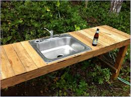 Outdoor Kitchen Sink Effective Decoration On Sink Andrea Outloud - Simple outdoor kitchen