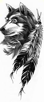 Wolf Indian Tattoos - 58 best wolf tattoos images on drawings wolf tattoos
