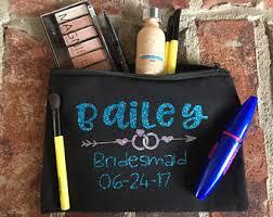 Bridal Party Makeup Bags Name Makeup Bag Etsy