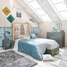chambre surf 2 plaques en métal jaune bleue h 35 cm maisons du monde