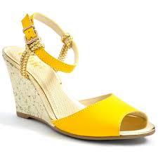 buy online platforms wedges series trendy yellow color women