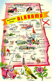 Kids Map Of The United States by 50 States Notebook 50 States Alabama And Geography