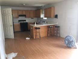 Wood Floor In Powder Room - skinny house reveal