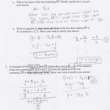 writing equations of parallel and perpendicular lines worksheet answers