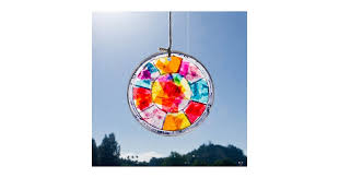 Kids Stained Glass Craft - easy stained glass window hanging craft for kids popsugar moms
