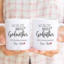 godmother gift personalized mugs godfather of the groom gifts