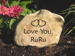 engraved garden stones and personalized word rocks