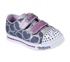 skechers led light up shoes skechers girls led shoe twinkle toes shuffles glitter heart light