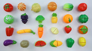 learn fruits and vegetables names with velcro cutting toy set