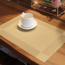 simplewoo brown woven vinyl placemats for dining table decor