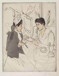mary cassatt afternoon tea party 1890 1891 artsy