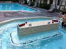Pool Beer Pong Table by My Friend U0027s Jacuzzi Has A Beer Pong Table In The Center