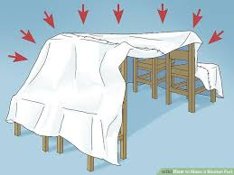 How To Build A Tent The Easiest Way To Make A Blanket Fort Wikihow