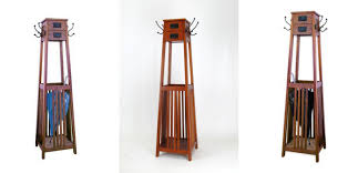 unusual furniture design a mission style freestanding coat rack