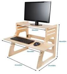 Convert Normal Desk To Standing Desk Diy Project Plan Two Monitor Standing Computer Desk Diy Project