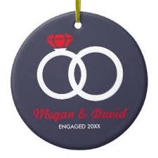 just engaged ornaments keepsake ornaments zazzle