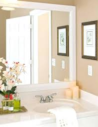 framing bathroom mirror ideas oak framed bathroom mirrors how to build a frame around a bathroom