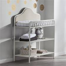 Changing Table Shelves by Little Seeds Piper Upholstered Changing Table Cream Babies