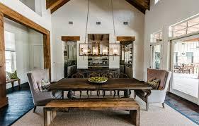 Rectangular Chandeliers Dining Room Rectangular Chandelier Dining Room Transitional With Bench Seat