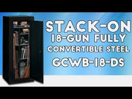 stack on 18 gun convertible gun cabinet stack on products sentinel 18 gun fully convertible steel security
