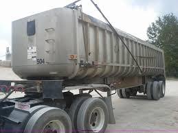 1990 fruehauf aluminum end dump trailer item aw9881 sold