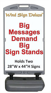 Sign Stands by Wind Sign Deluxe Power Graphics Com