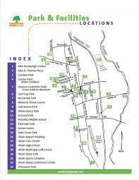 map ukiah parks facilities map city of ukiah ca