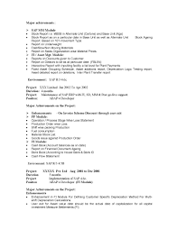 sap sd resume 5 years experience resume for your job application