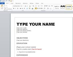 ms word resume template 2007 ten great free resume templates
