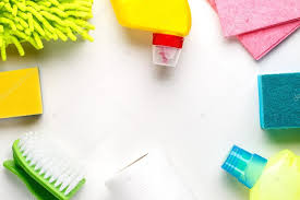 Cleaning Table Stock Images Royalty by House Cleaning Products On White Table U2014 Stock Photo Logoff