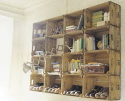 How To Make Wooden Shelving Units by Shipping Crates Reused Crates Crate Shelves And Wooden Crates
