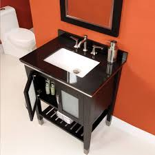 bathroom ideas single freestanding glass sink solid wood 30 inch