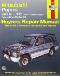 mitsubishi pajero 1996 mitsubishi pajero petrol u0026 diesel automotive repair manual 83 97