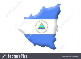 Flag Nicaragua Signs And Info Republic Of Nicaragua Stock Illustration