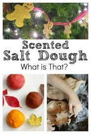 scented salt dough experimenting with aromatherapy