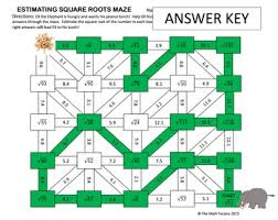 estimating square roots maze activity by the math factory tpt