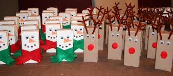 making these snowman and rudolph juice boxes for the class party