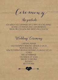 kraft paper wedding programs 8 best wedding program templates images on wedding