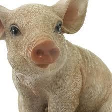 sitting piglet pig resin garden ornament 15 19 garden4less