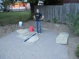 How To Make A Flagstone Patio With Sand How To Install A Flagstone Patio With Irregular Stones Diy