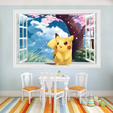 home decor archives my pokemon shop my pokemon shop cute pikachu window wall stickers for kids rooms home decorations pokemon wall decal amination poster wall art wallpaper