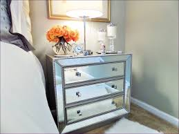 Glass Bedside Table by Bedroom Black Mirrored Bedside Tables Curved Nightstand