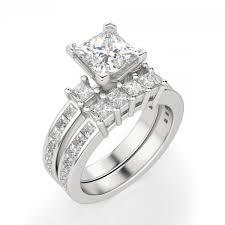 green wedding rings kit princess cut engagement ring