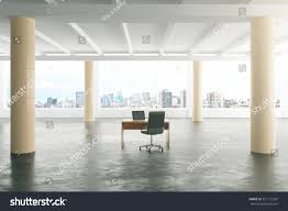 modern sunny loft style open space stock photo 351175367