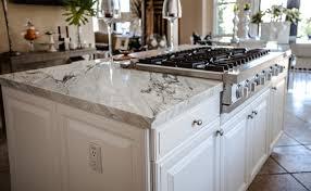 marble island kitchen white marble island