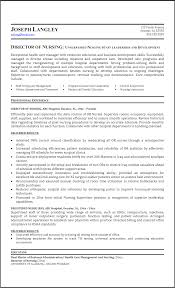 Sample Resume For Staff Nurse by Director Of Nursing Resume Resume For Your Job Application
