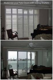 Sliding Shutters For Patio Doors Modernize Your Sliding Patio Doors With Sliding Shutters Rockwood